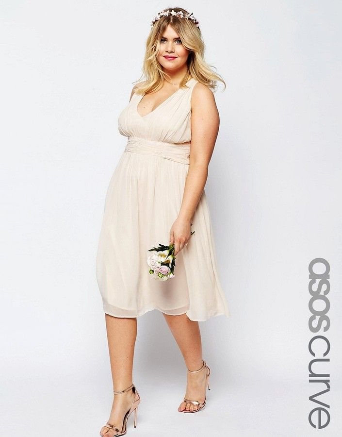 ASOS Curve ASOS CURVE WEDDING Hollywood Midi Dress, Wedding Dresses ...