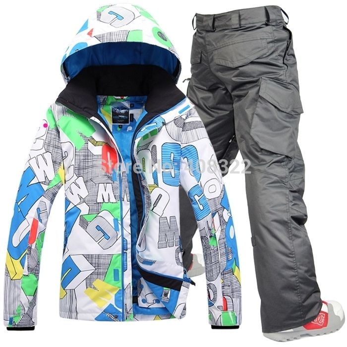 Gsou Snow men s ski suit set Men skiing outdoor winter sportswear snowboard  skiing set waterproof and 7f51b590a