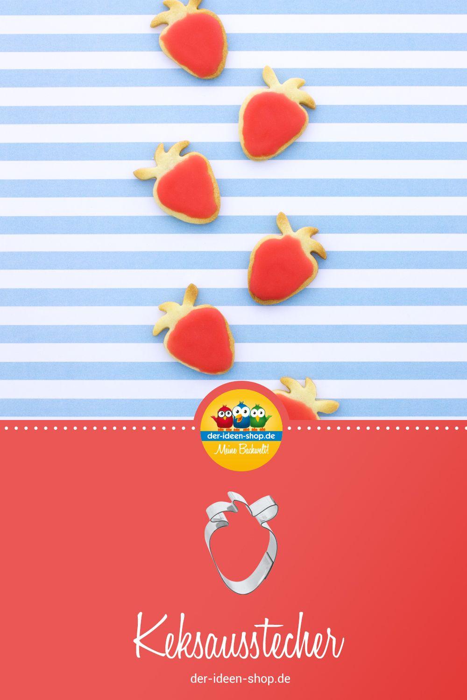 1 Keksausstecher In Der Form Einer Erdbeere Mit Diesem Ausstecher