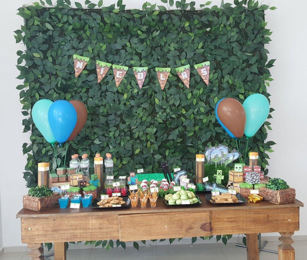 Faça uma festa de aniversário Minecraft em casa, com dicas de decoração simples e criativas.4 Decoração de mesa.