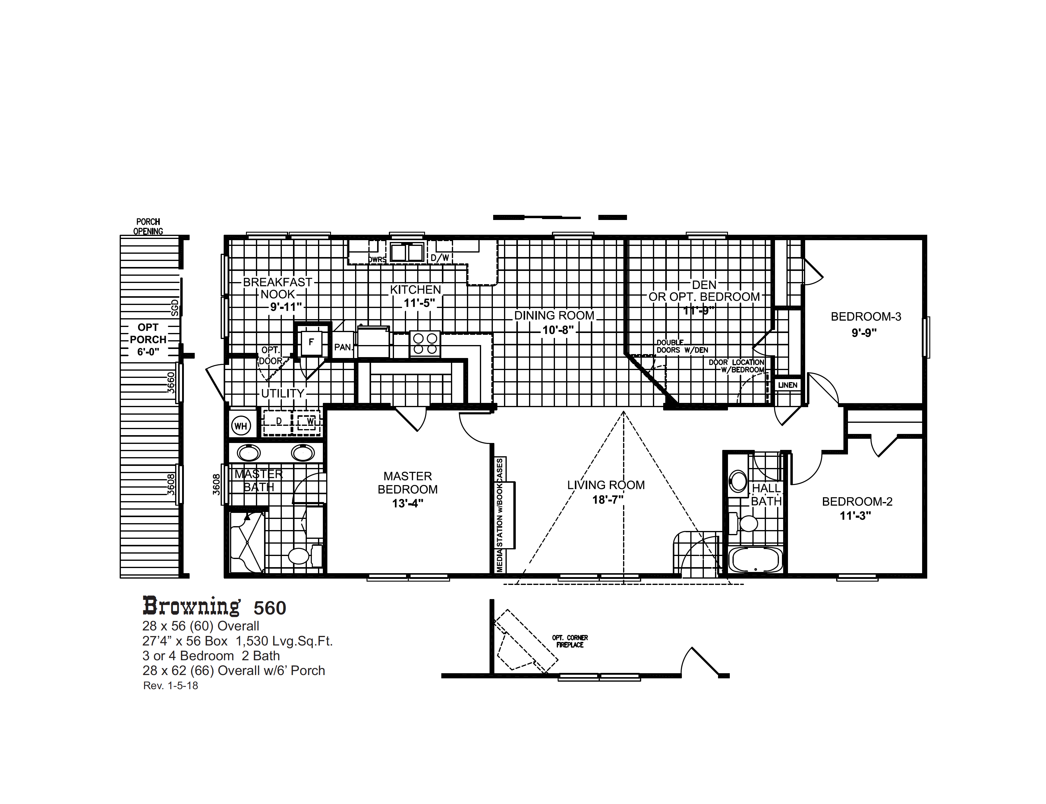 Browning 560 Oak Creek Homes Oak Creek Homes Floor Plans Porch Oak