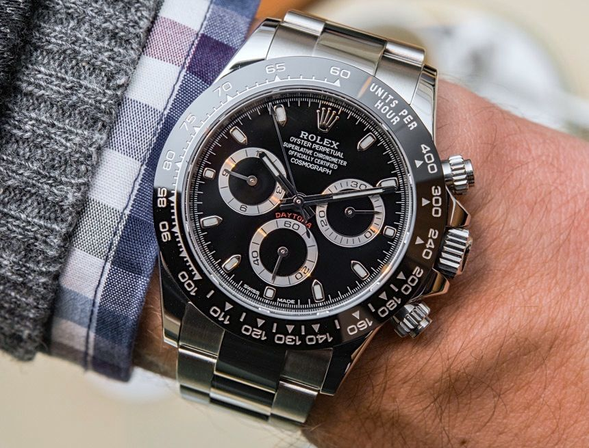b3cdd7c3df8 New Rolex Cosmograph Daytona Watch With Black Ceramic Bezel   Updated  Movement Hands-On Hands-On