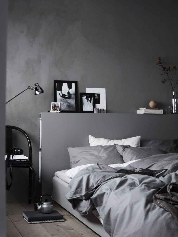 There is a large proportion of grey. | Minimalist bedroom ...