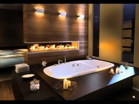 اطقم حمامات Modern Master Bathroom Bathtub Design Modern Bathroom Lighting