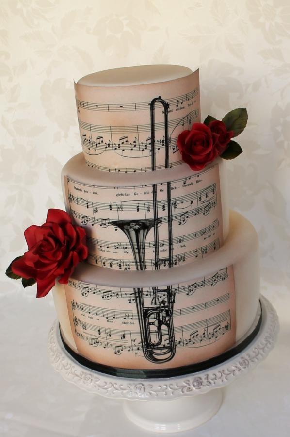 Birthday Cake With Trombone Musical Theme