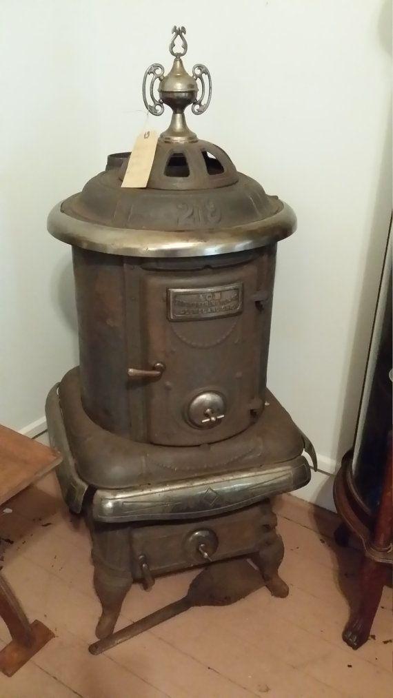 Antique George Worthington Cast Iron Coal Stove Made In Cleveland Ohio Local Pick Up Coal Stove Antiques Cast Iron