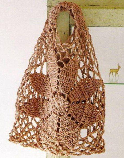 Patron para hacer un bolso de playa a crochet02 | tejidos, costuras ...