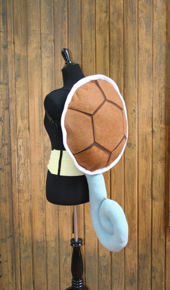 Adult Or Teenage Squirtle Costume 2 Piece Set Shell And Tail
