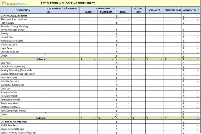 Pin On Material Calculation Estimation worksheets for construction