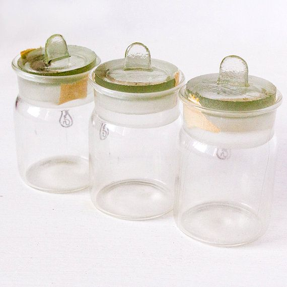 Set of three vintage transparent pharmacy by MyLovelyFindings