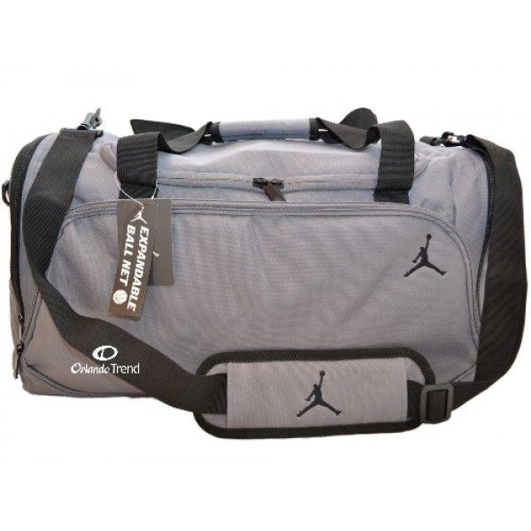 nike air jordan black and grey duffle bag
