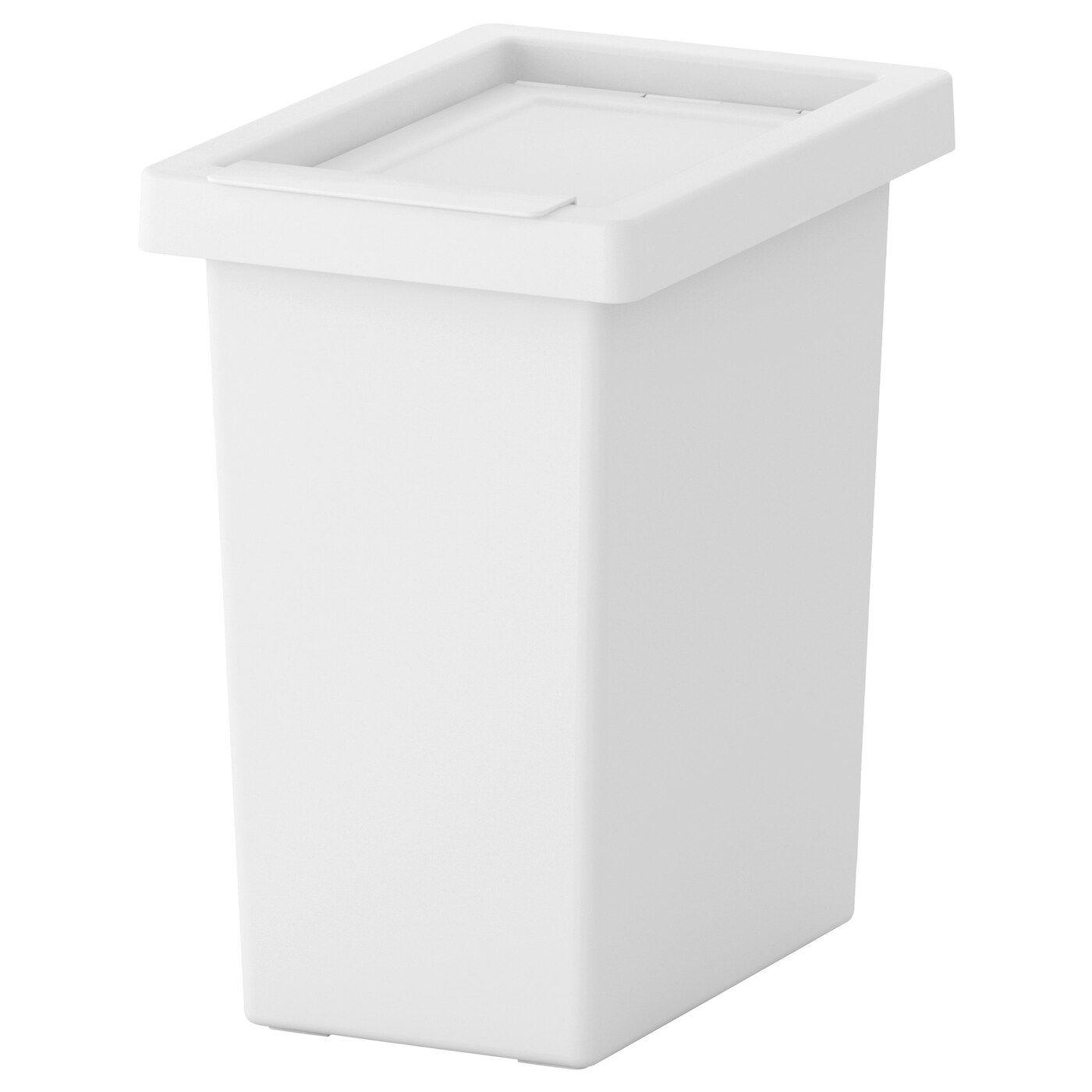 Filur Cubo Con Tapa Blanco Ikea Mesitas De Noche Ikea Cubo De Basura