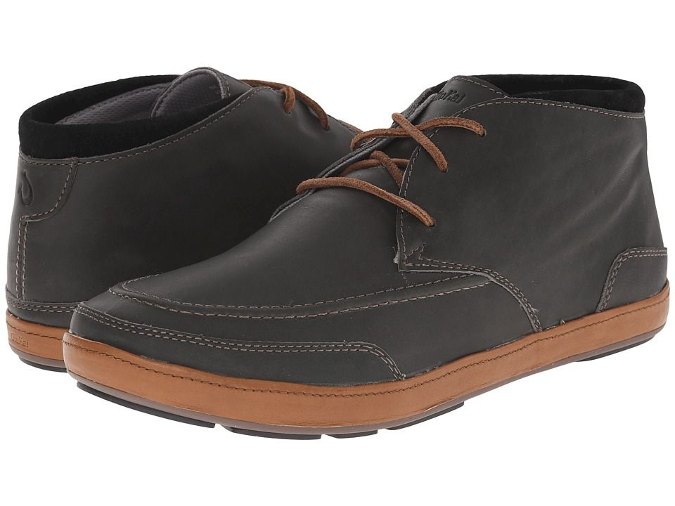 OLUKAI OLUKAI - PALA (DARK SHADOW/BLACK) MEN'S LACE UP CASUAL SHOES.