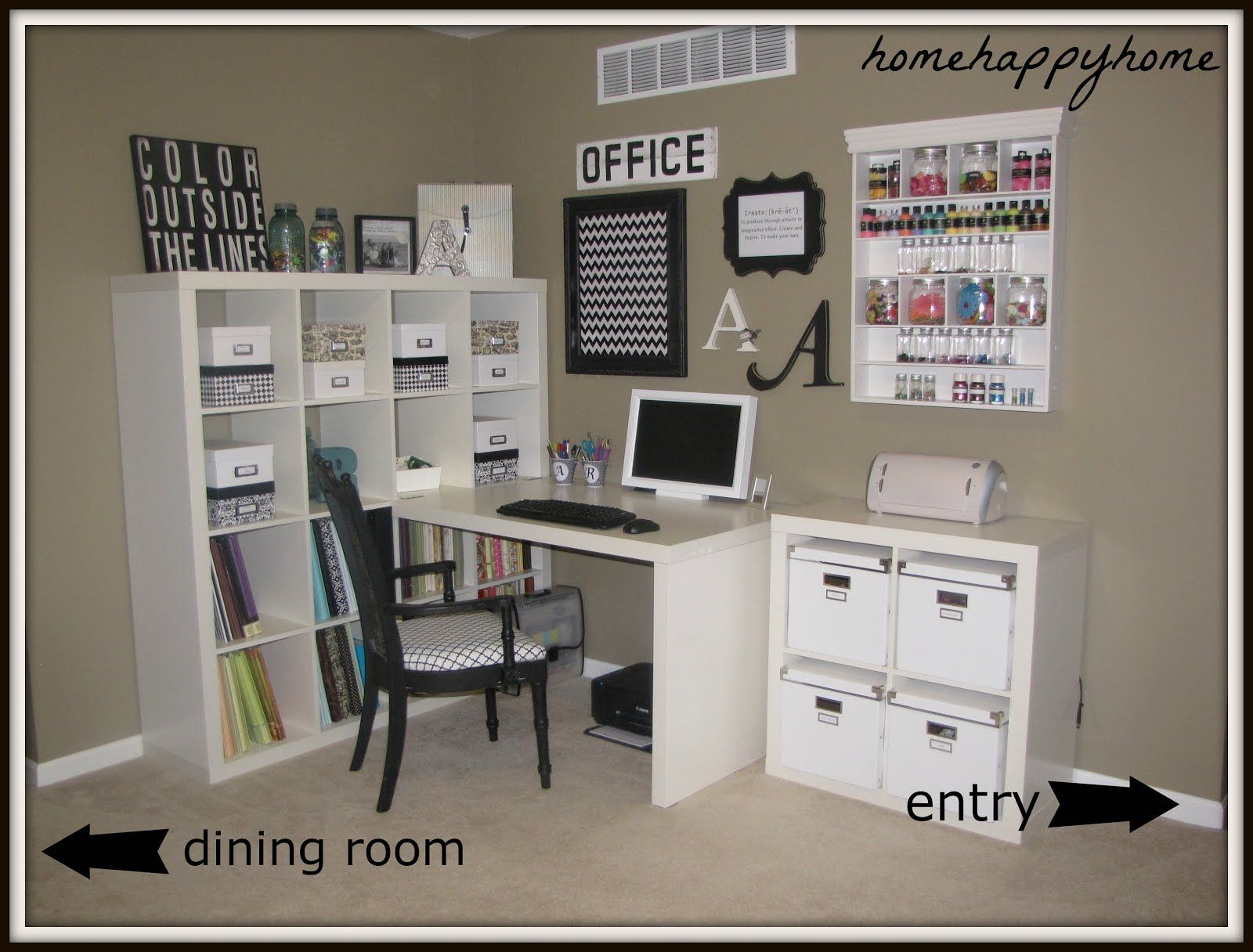 Remarkable Craft Room Ideas Ikea So Here Is My New Craft Room In What Was Largest Home Design Picture Inspirations Pitcheantrous