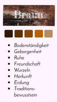 Farbportats Die Farbe Braun Wissen Farben Farbe Braun Und