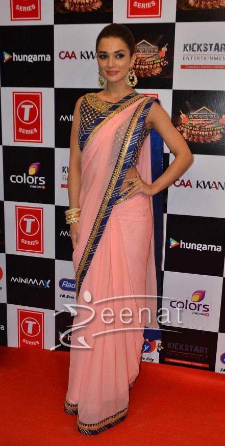 Amy Jackson In Saree at Suron k Rang 1