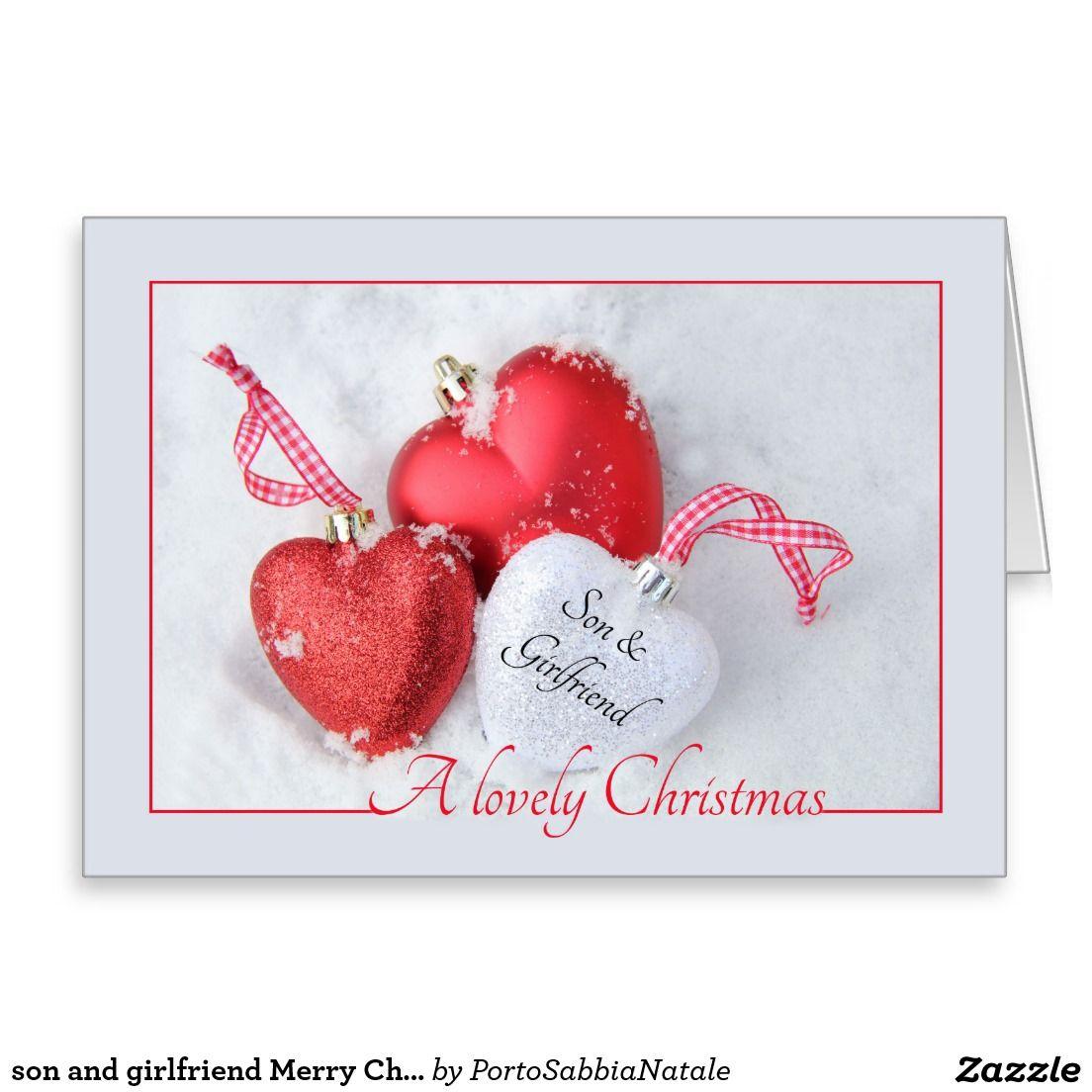 son and girlfriend Merry Christmas card | Merry christmas card
