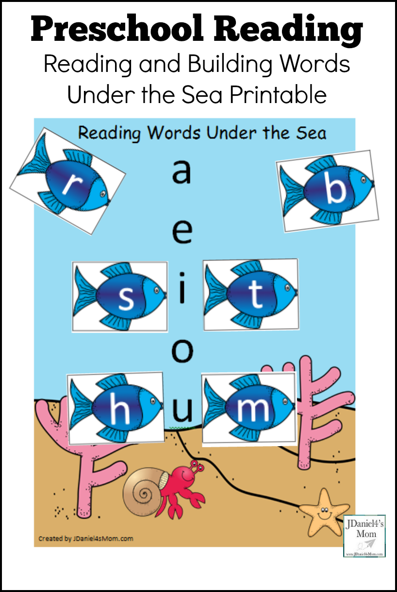 Preschool Reading Under The Sea Printable With Letters Your Students At School Or Children At Ho Preschool Reading Preschool Reading Activities Word Building [ 1218 x 818 Pixel ]
