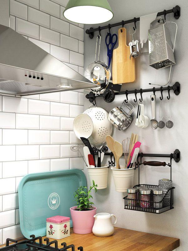 Más de veinte ideas para poner orden en la cocina Ideas para - estantes para cocina