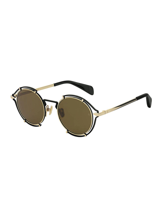 145f2f97cd7 Rag   Bone Round Cutout Metal Sunglasses in 2019