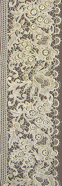 Reticella needle lace, Germany 1884...