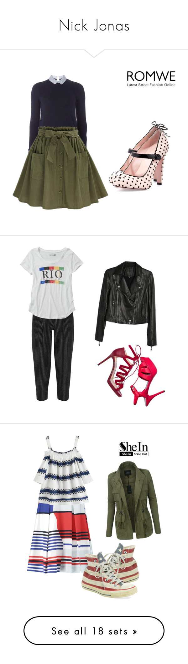 """""""Nick Jonas"""" by lady-shadylady ❤ liked on Polyvore featuring beauty, Dorothy Perkins, RED Valentino, Jimmy Choo, Yves Saint Laurent, DKNY, Abercrombie & Fitch, Paige Denim, LE3NO and Milly"""