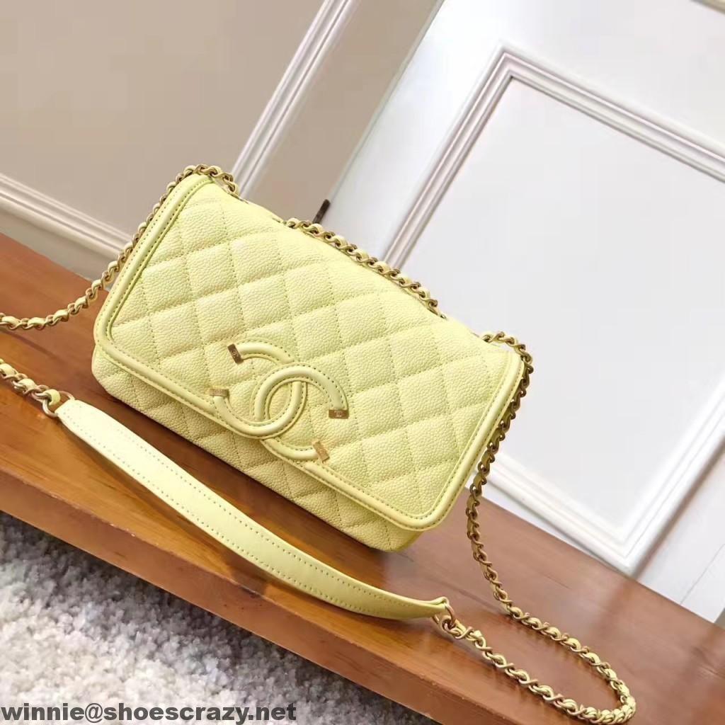 a173380a5f98 Chanel Caviar Calfskin CC Filigree Flap Bag | Chanel | Chanel, Bags ...