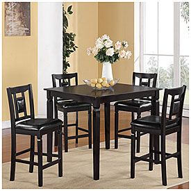 5 Piece Pub Set From Big Lots Black Rectangle Dining Table