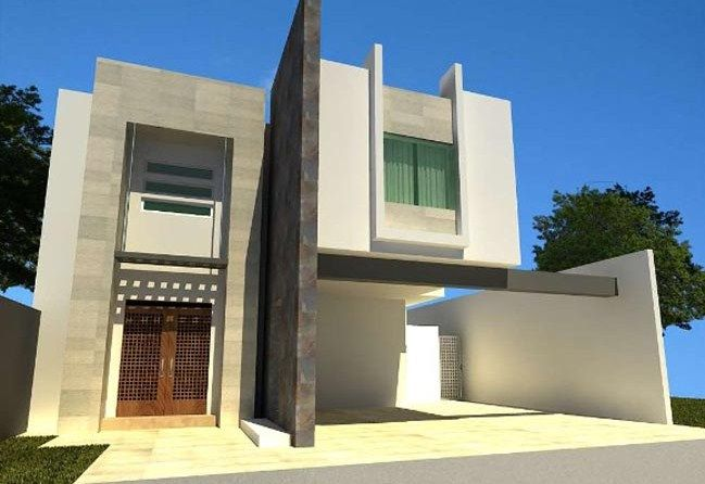 fachadas de casas con lajas