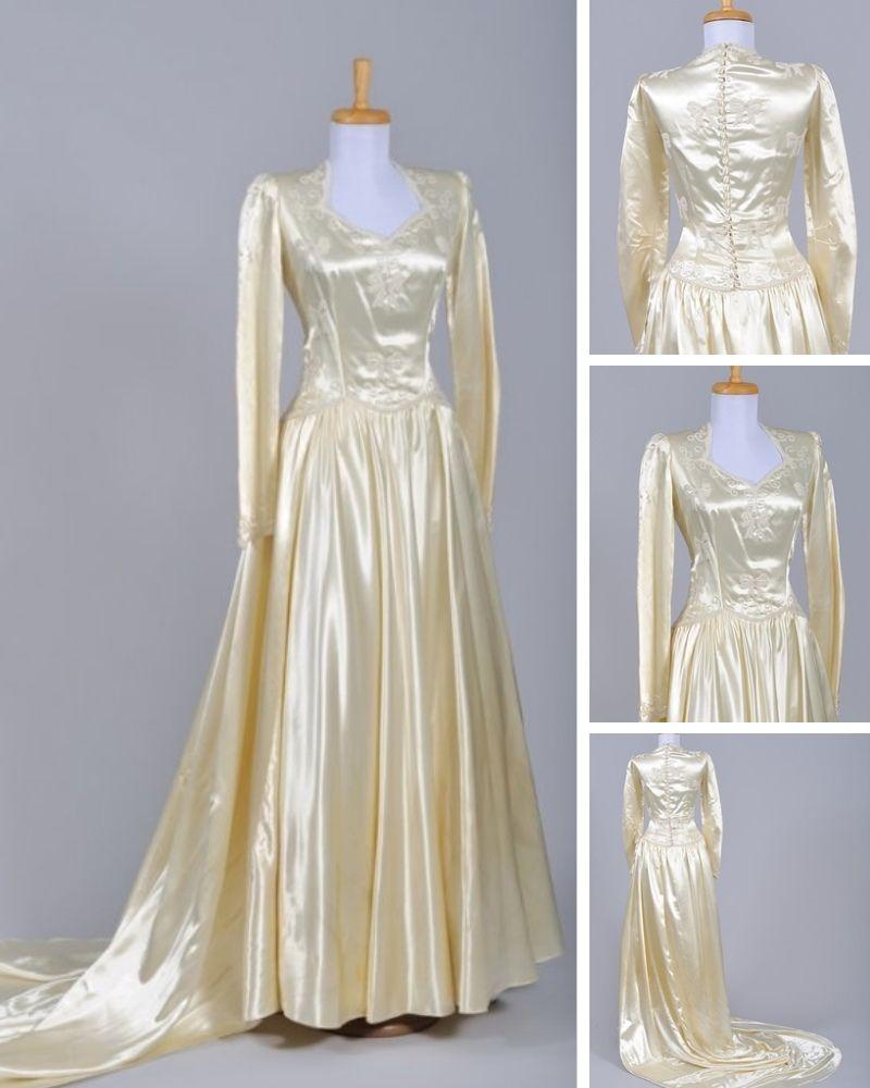 1940s Wedding Dress Wedding Dresses Worthy Of Royalty