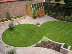 lawn shapes for small contemporary gardens google search