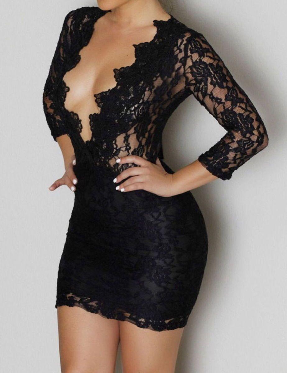 Long Black Exotic Dresses
