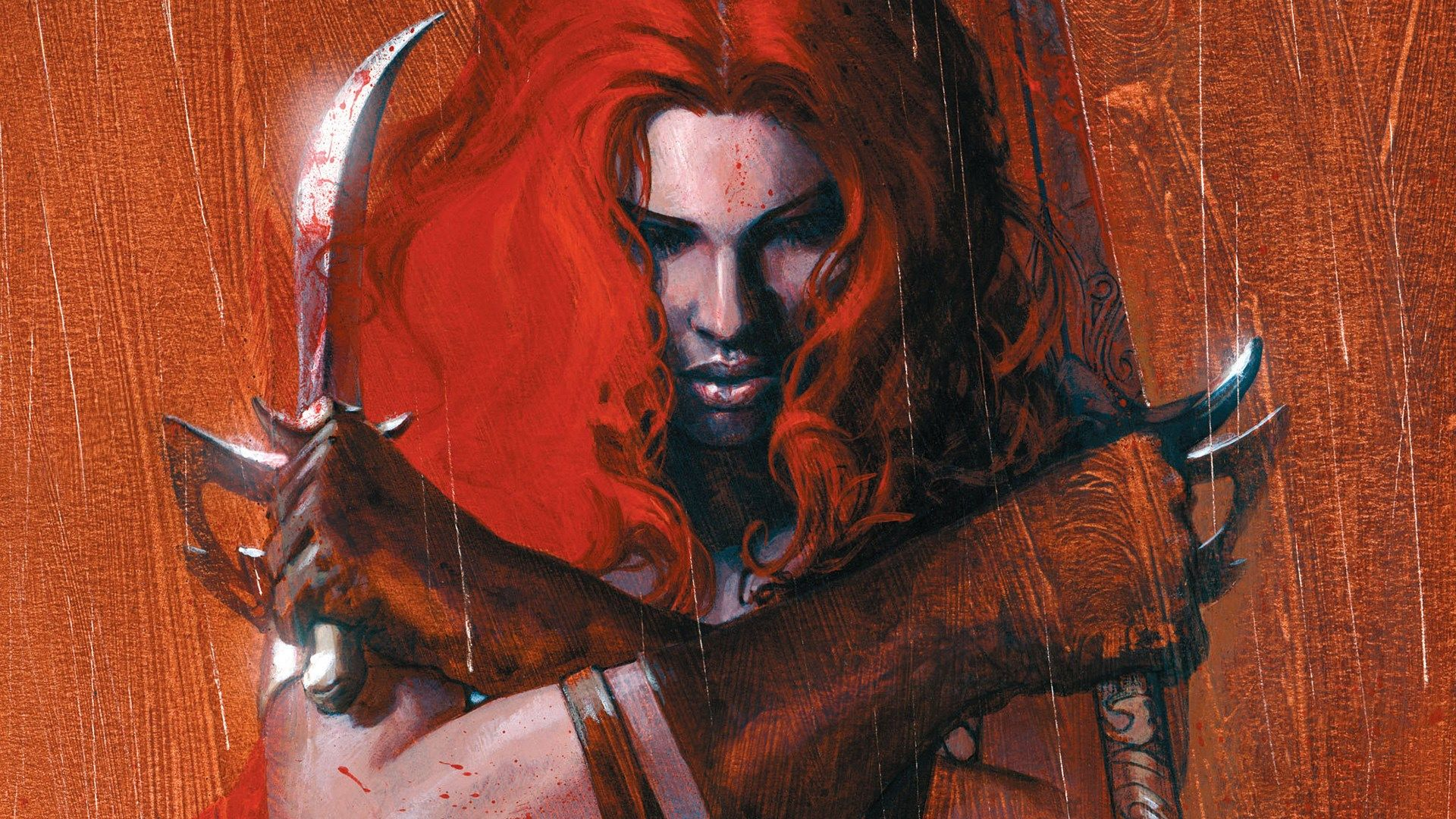 Red Sonja 1080p Windows Red Sonja Fantasy Portraits Sword And Sorcery