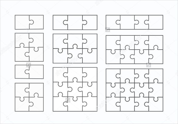 Puzzle Template, Blank Puzzle Template Free  Premium Templates - blank puzzle template