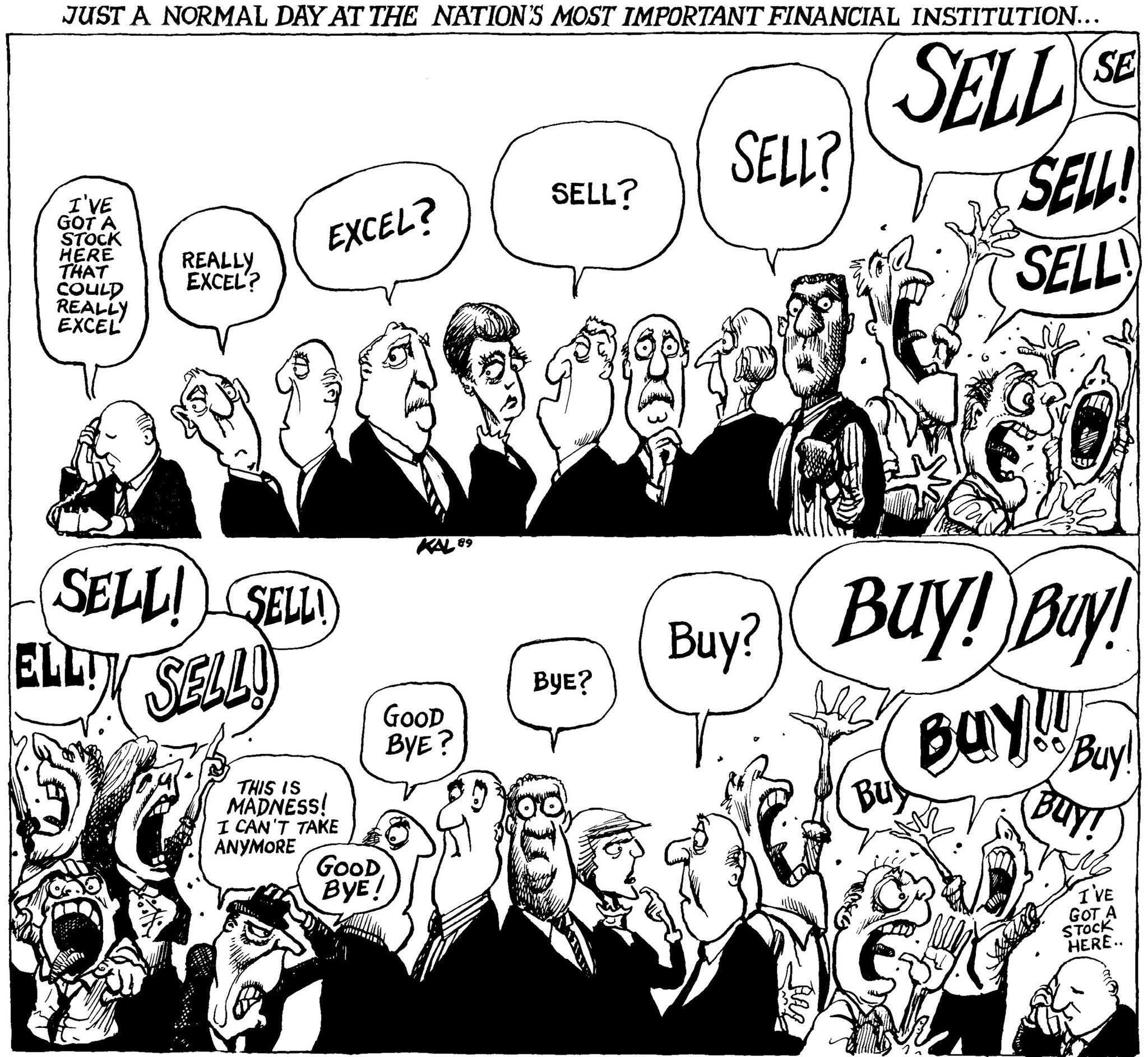 Buy Buy Sell Sell Signed Kal Print Stock Trading Ways To Get Money Financial Institutions