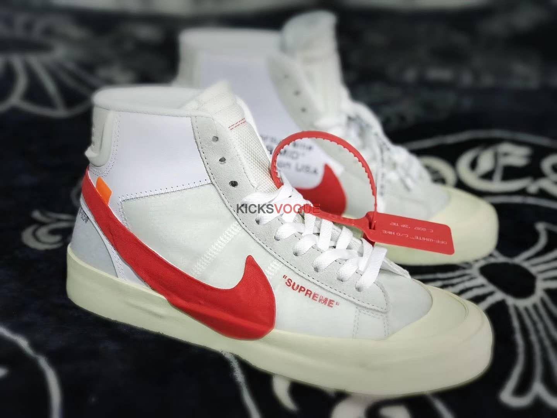super popular cf7e3 addb8 Supreme x Off-White x Nike Blazer Custom - Off-White