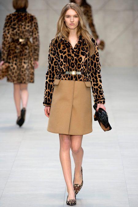 Burberry Prorsum RTW Fall 2013. patterned outerwear. metal details. leopard. #fall2013 #london #BurberryProrsum