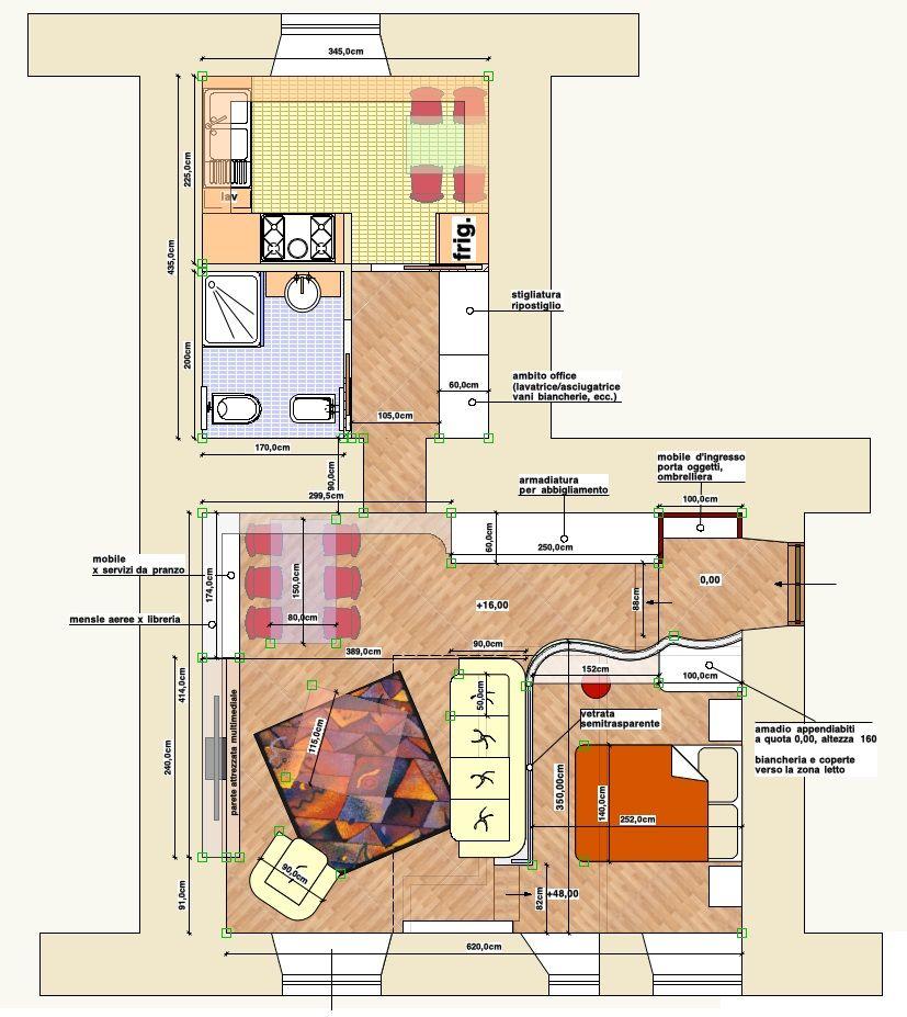 Progetto per la ristrutturazione di un mini appartamento for Progetto di ristrutturazione