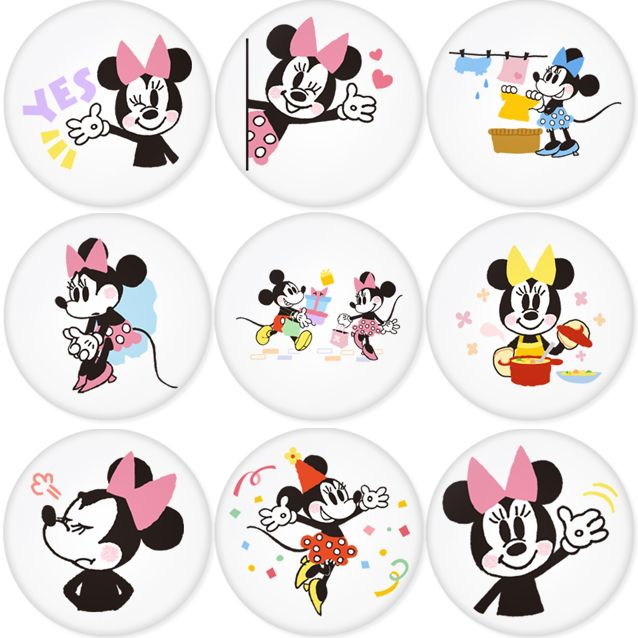 "MICKEY MOUSE 1.75"" Badges Pinbacks, Mirror, Magnet, Bottle Opener Keychain http://www.amazon.com/gp/product/B00C2ZB3GG"