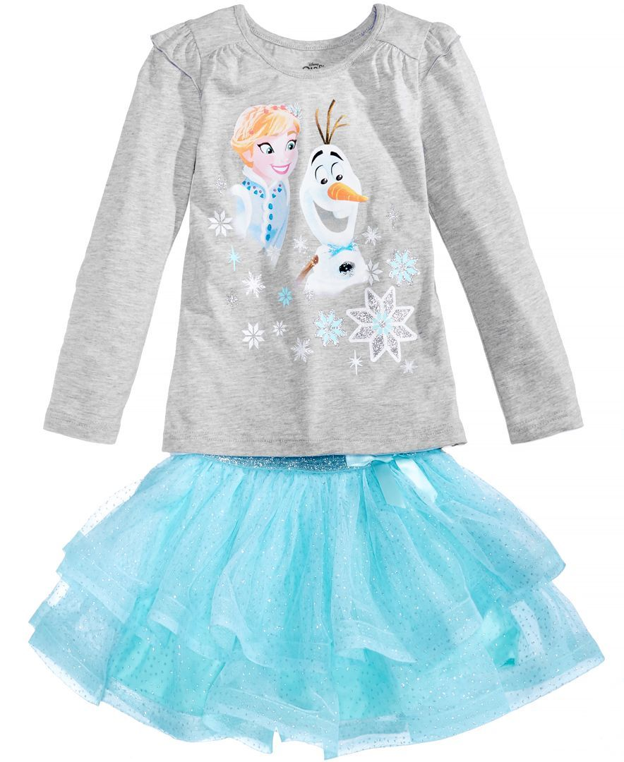 Disney Frozen Toddler Girls T-Shirt Skirt Headband Set 5T