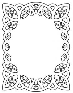 Lace Frame Fcm Cricut Crafts Stencil Designs Doodle Frames
