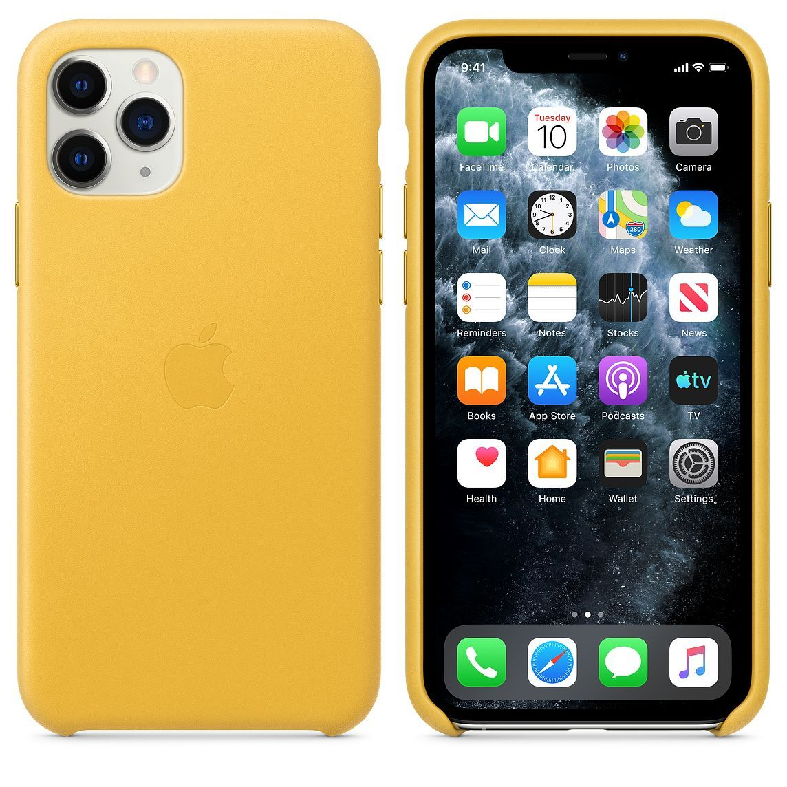 Iphone 11 Pro Leather Case Meyer Lemon With Images Iphone