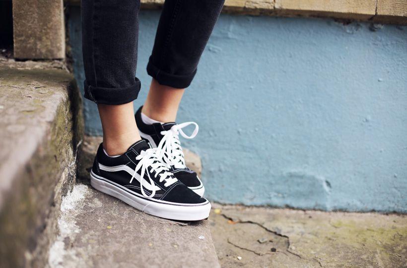 vans on feet