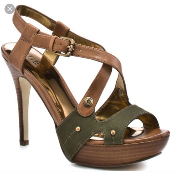 9143da9a6 Shop Women s Green Tan size 8.5 Heels at a discounted price at Poshmark.  Description  Great condition .. size 8.5 fits like 8. Sold by vivcloset.