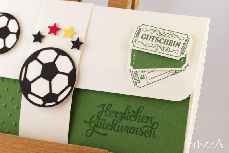 Gutscheine Geschenkverpackung Fur Fussball Tickets Grun