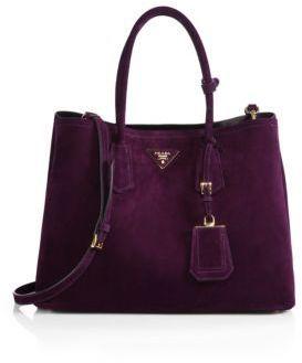 68577ff0afc2e Prada Suede Double Bag