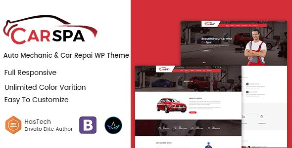 Carspa - Auto Mechanic & Car Repair WordPress Theme | Wordpress ...