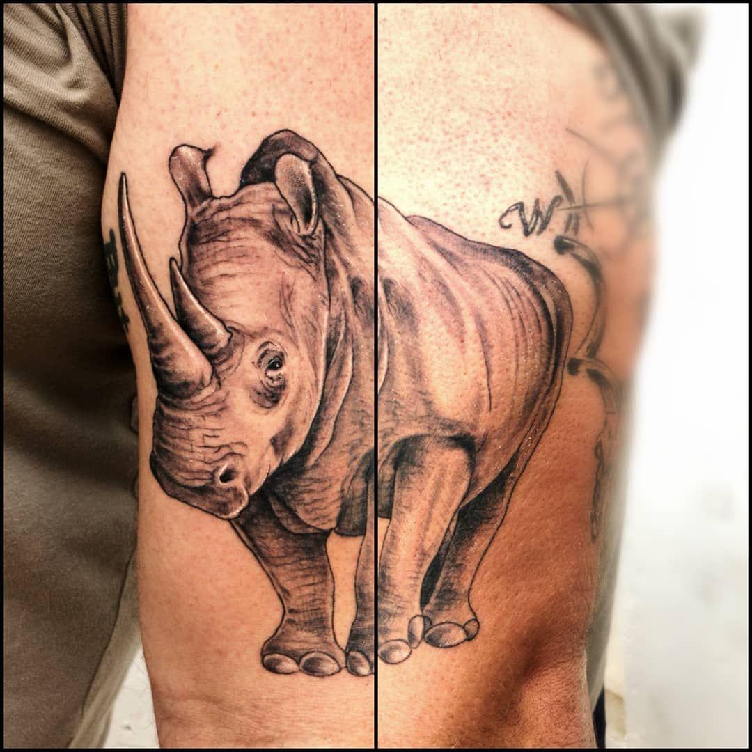 Healed Rhino and Elephant on my boy @jarrydbohlander 💥💥 #HoldFast #Tattoos #tattooaddict #worldfamousink...