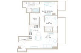 1 Bedroom 1 5 Bathrooms Den Floor Plans Apartment Bedroom