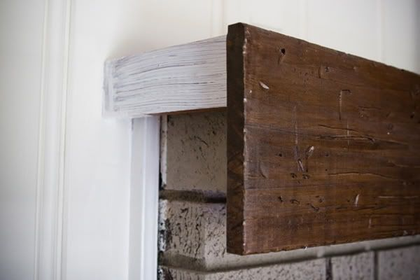 Jessica - this is a good example for the fireplace mantel redo! Showing how  to make a rustic wood mantle, which I love, in this picture, but they redid  the ...